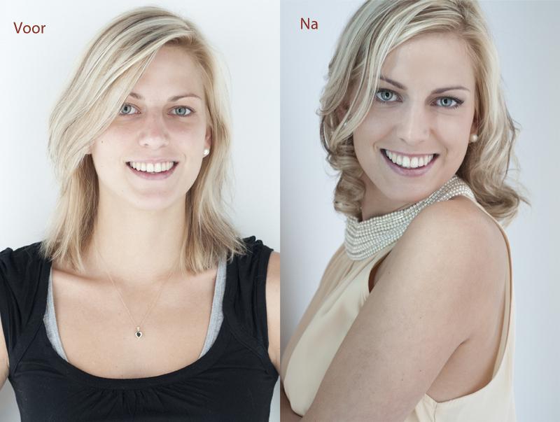 Glamour fotografie fotoshoot glamour metamorfose Makeover door Willem Hoogendoorn fotografie