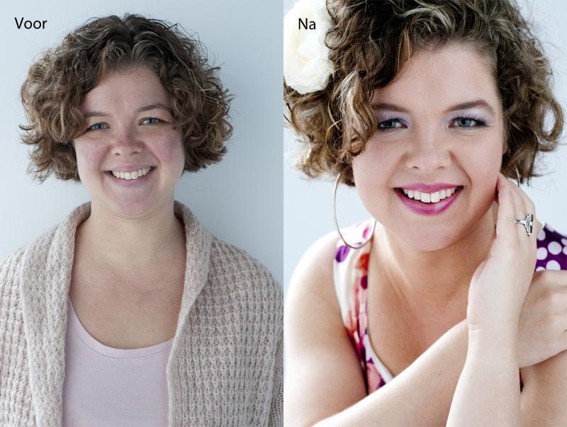 glamourfotografie makeover hairstyling en visagie bij Willem Hoogendoorn Fotografie in Woerden