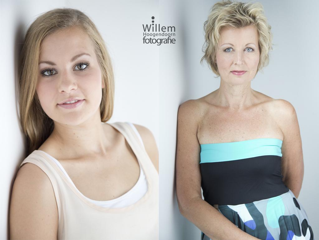 uitje moeder en dochter beauty en glamour fotografie door Willem Hoogendoorn portretfotograaf Woerden