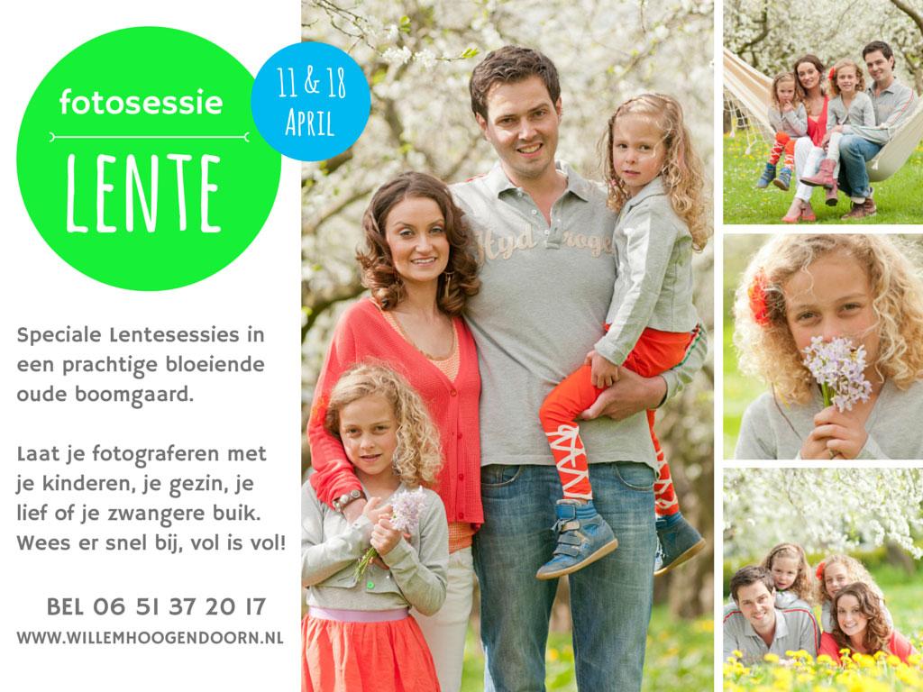 Fotosessie in bloeiende boomgaard door Willem Hoogendoorn Fotografie Woerden. Reserveer nu!