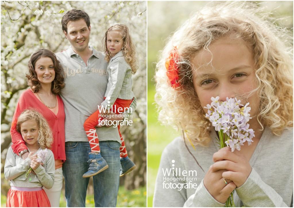 familiefoto foto gezin in de bloesem lente door Willem Hoogendoorn Fotografie Woerden