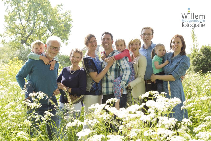 familiefoto buiten lokatie